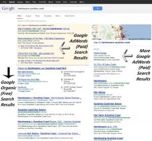 google adwords example results